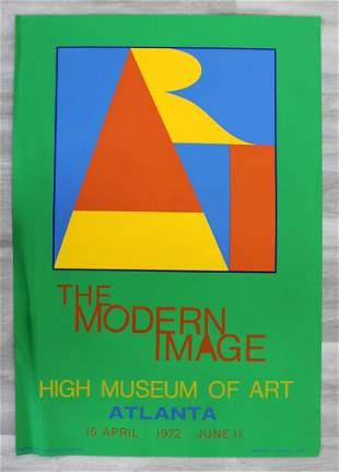 Robert Indiana Modern Image Museum Poster '72 Atlanta