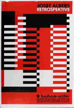 Josef Albers Retrospective Poster Bauhaus 1988