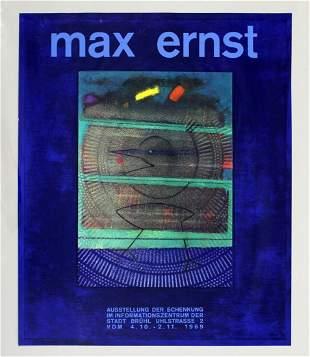 Mid Century Max Ernst Ausstellung Exhibition Poster