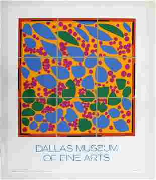 Henri Matisse Flower Dallas Museum Poster Pace 1974
