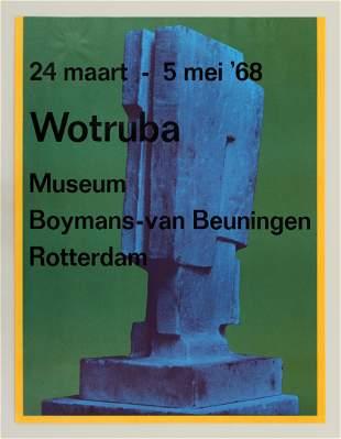 Fritz Wotruba 1968 Museum Poster Rotterdam Netherlands