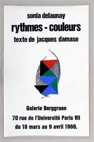 Sonia Delaunay Galerie Berggruen Paris 1966 Poster