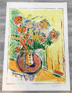 Flower Flight Wayne Ensrud Hand-Signed Lithograph
