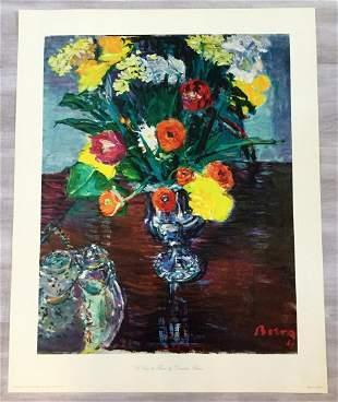 La Vase des Fleurs Dimitrie Berea Hand-Signed Serigragh