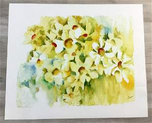 Alive w Daisies Tina Smith Hand-Signed Serigraph