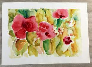 Floral Energy Tina Smith Hand-Signed Serigraph