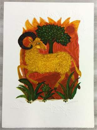 Aries Judith Bledsoe Hand-Signed Lithograph Unframed