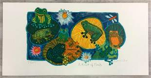 A Knot of Toads Judith Bledsoe Signed Lithograph