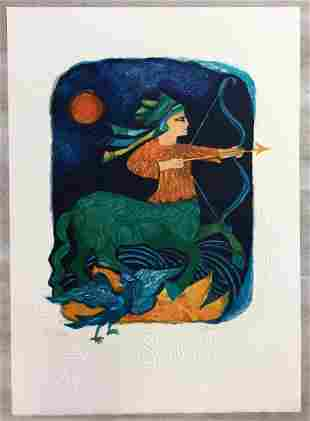 Sagittarius Judith Bledsoe Hand-Signed Lithograph