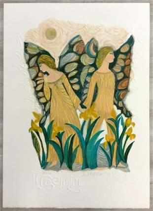 Gemini Judith Bledsoe Signed Romantic Lithograph