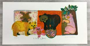 A Sloth of Bears Judith Bledsoe Hand-Signed Lithograph