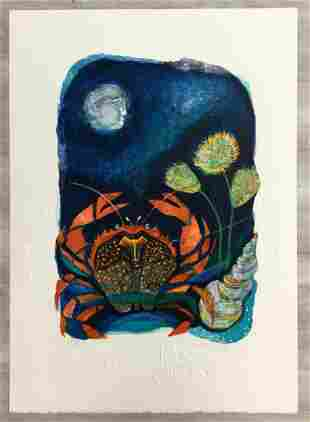 Moon Children Judith Bledsoe Hand-Signed Lithograph