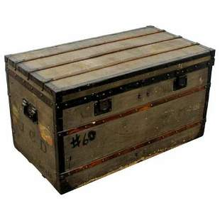 Antique Louis Vuitton J.C.D. Initialed French Trunk
