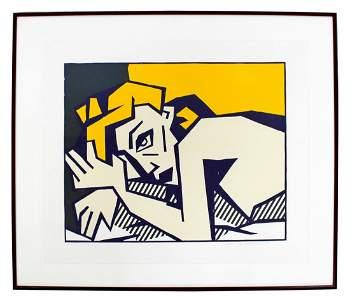 Reclining Nude Woodcut by Roy Lichtenstein 1980 42/50