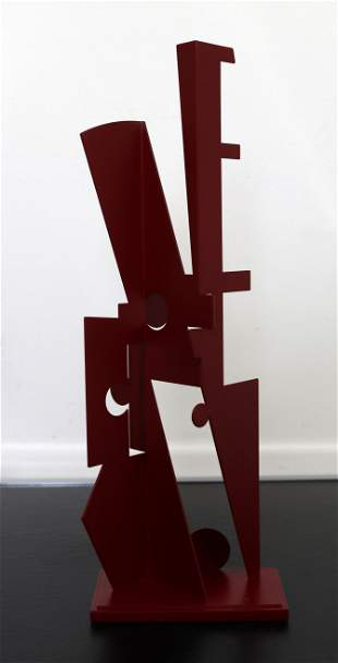 Jay Lefkowitz Red Abstract Contemporary Sculpture