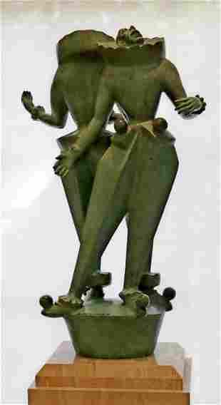 Marshall Fredericks Clown Musicians Bronze Sculpture