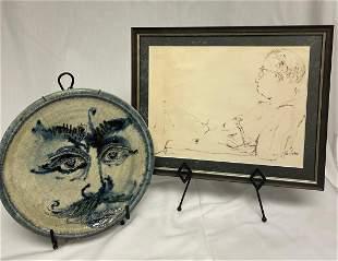 John Loree Portrait Series Ceramic Plate & Figurative