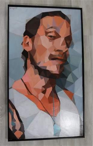 Bowen Kline Diners & Dives Acrylic Portrait Painting