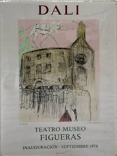 Salvador Dali Teatro Museo Exhibition Poster Unframed