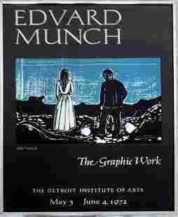 Edvard Munch Detroit Institute of Arts 1972 Poster