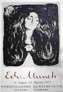 Edvard Munch Nordjyllands Kunstmuseum '73 Poster