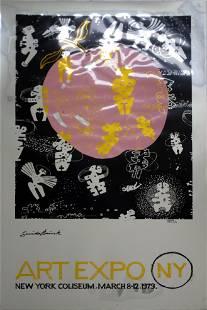 Guido Brink Metallic Expo NY 1979 Signed Screenprint