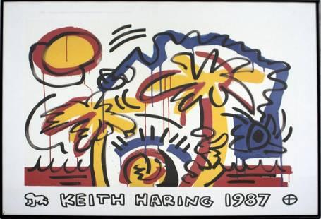 Keith Haring Palm Tree 1987 Contemporary Art Print