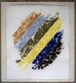 Kenneth Noland Abstract Hand Made Paper Colored Pulp
