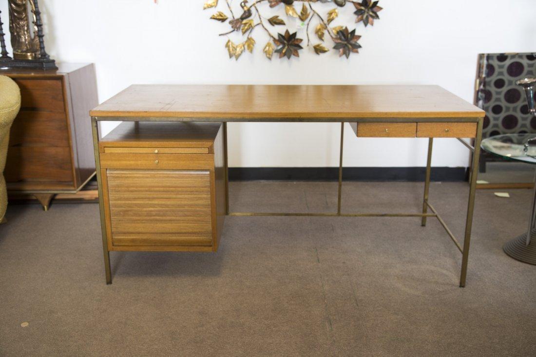 Paul McCobb for Calvin Mid Century Modern Brass Desk