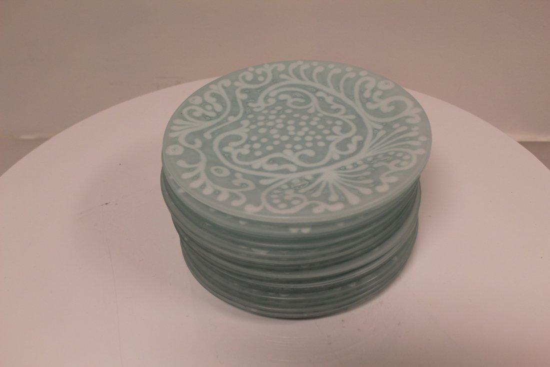 Higgins Signed Small Plates White Swirls 16 Piece Set
