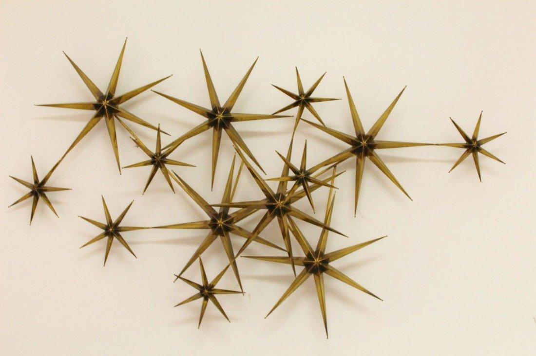 Rare Jere Signed Star Sunburst Brutalist Sculpture