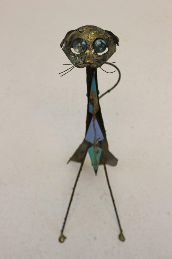 Curtis Jere Enameled Cat Sculpture
