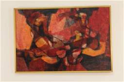Signed Ramsey Martin Untitled Original Abstract Oil