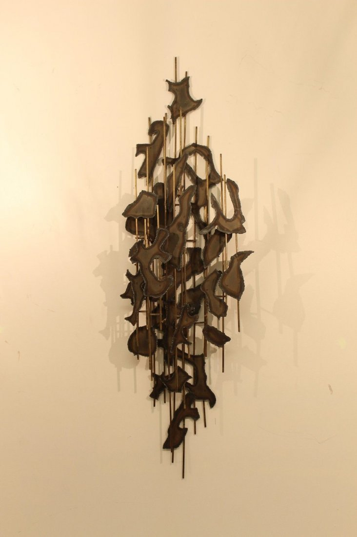 Brutalist Torchcut Wall Hanging Sculpture Seandel Style