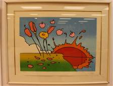Peter Max signed Space Landscape Serigraph 245/250