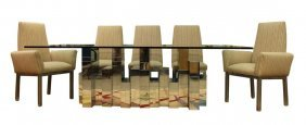 Paul Evans City Scape Table W/ 8 Chairs