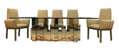 Paul Evans Cityscape Table w/ 8 Chairs