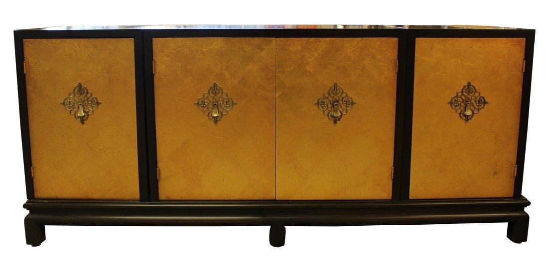 Renzo Rutili for Johnson Furniture Gold Gilt Credenza
