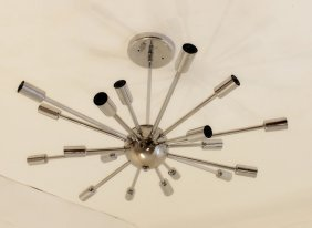 Chrome Sputnik Ceiling Fixture