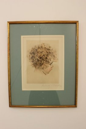Young Child Female Framed & Pencil Signed By Schalbin