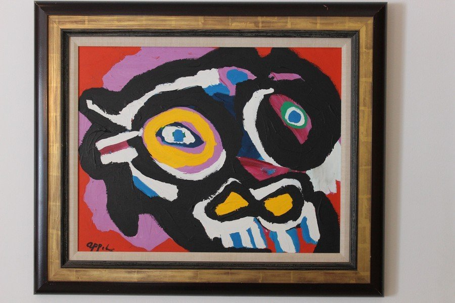 Original Acrylic on Canvas Painting by Karel Appel