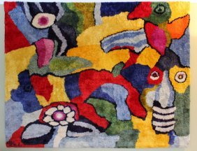 Large Original Fiber Art Karel Appel Rug