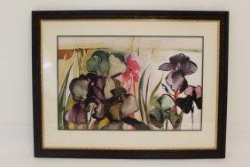 Edie Abnet Signed & Framed Original Watercolor