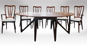 Kurt Ostervig Rosewood Dining Set Table & Chairs