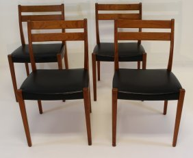 Set Of Four Teak Svegard Chairs