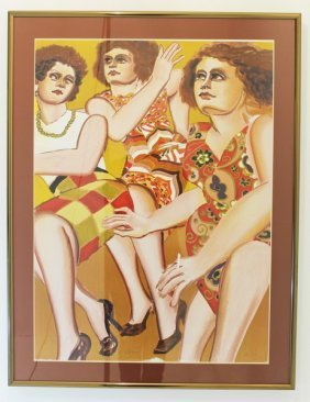 Lester Johnson Artist Proof Three Women
