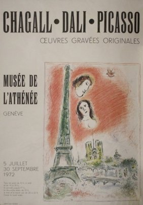 Vintage Exhibition Poster By Chagall