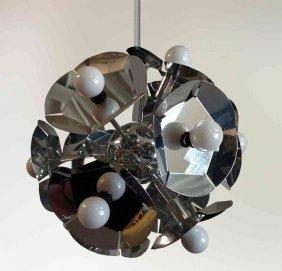 Mirrored Snowflake Hanging Light Fixture Chandelier