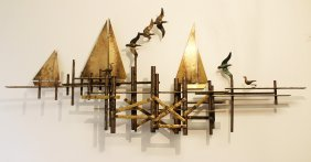 Curtis Jere Pier Hanging Wall Sculpture