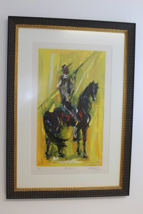 "Signed Ettore ""ted"" Degrazia ""don Quijote"" 1979"